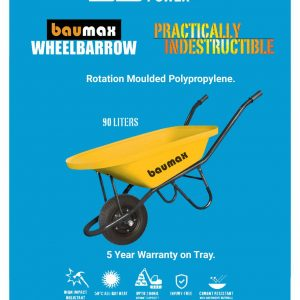 Baumax 90L Wheelbarrow