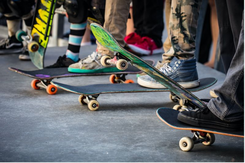 concrete-mixers-skatboards-lined-up-min